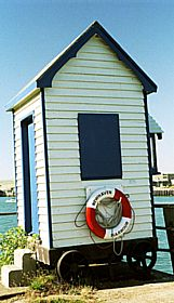 Beach Hut at the end of Newhaven Harbour © Diana Hitchin