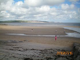 Newton beach[Ogmore by Sea in the distance] © Philip Cookson