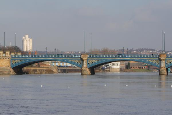 The River Trent and Trent Bridge with Nottingham in the background