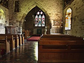 Interior of the Church of St James the Great, Ocle Pychard, Herefordshire © Geoffrey Loyd
