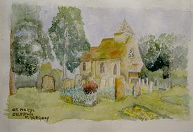 Watercolour St Marys © Frank Gregory