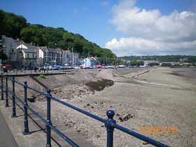 Oystermouth promenade [castle on the right in the distance] © Philip Cookson