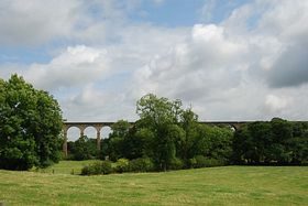 Crimple Valley Viaduct from Pannal. © Mr Philip Moon (HKt.B)