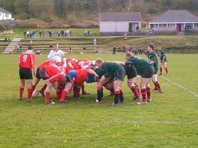 Penclawdd rugby at home © Paul Williams
