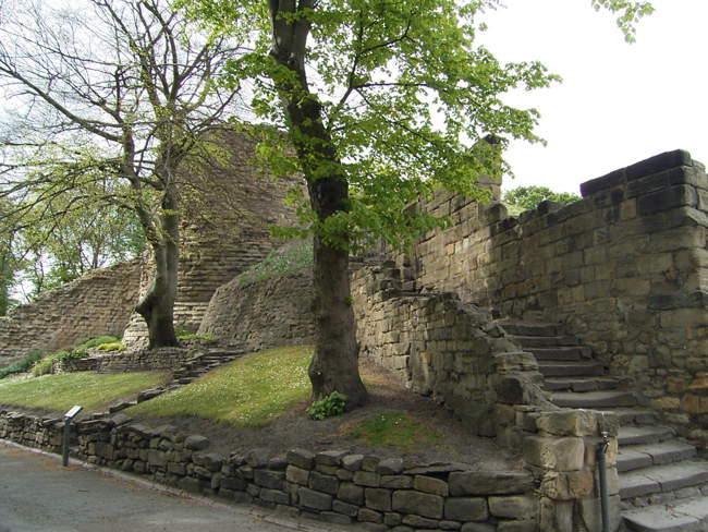 Pontefract Castle the steps leading to the Gatehouse © Stan Walker