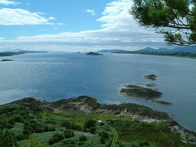 View from point at Port Appin down Loch Linnhe towards Oban © Shaun Mckivragan