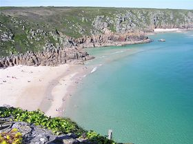 Porthcurno Beach © Nigel Breen