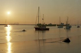 Queenborough's position on Kent's east coast gives great views at sunset © Yvonne Rayfield