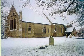 St Mary's in the snow © Raydon Photographic Archive