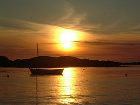 sunset over rhosneigr © Jen Langridge