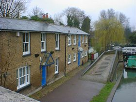 Canalside cottages © Richard
