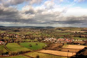 View of Shillingstone and Hmbledon Hill from Shillingstone Forest. © Graham Rains