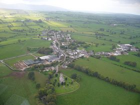 Skelton Cumbria viewed from the air © Douglas Clarke