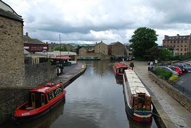 Barges on the Canal at Skipton. © Mr Philip Moon ( Hkt,B )