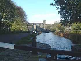 The re-opened canal in Slaithwaite, facing towards Marsden © Victoria Berryman