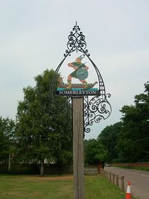 The Village Sign on the Green © Peggy Cannell