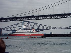Rosyth to Zeebrugge Ferry from South Queensferry © Mrs Calmyn Lamb