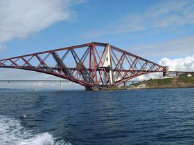 The South Cantilever of Forth Bridge from South Queensferry © Mrs Calmyn Lamb