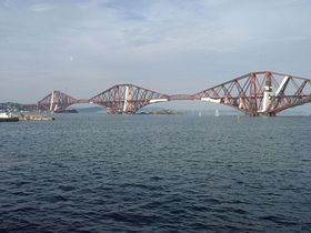 The Forth Rail Bridge from South Queensferry High Street © Mrs Calmyn Lamb