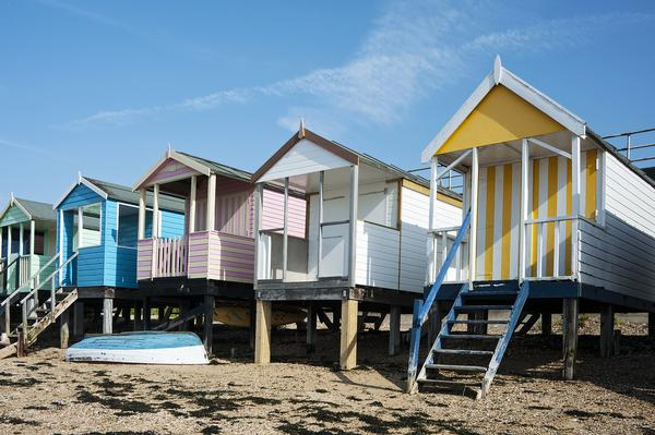 Colorful Beach Huts at Southend-on-Sea, Essex