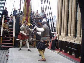 Swashbuckling on The Golden Hinde © Kevin Howell