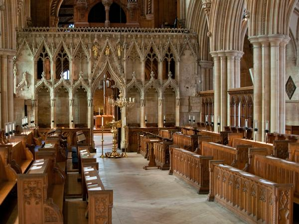 The choir stalls at Southwell Minster