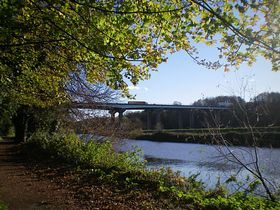 The A1{M}crossing the river Don © Philip Cookson