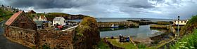 Panorama of St. Abbs Harbour © Dennis M Bradley