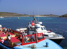 The boat from St Agnes - photo by Chris Bradley