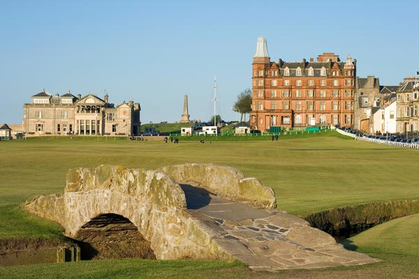 The Swilcan Bridge on the Old Course Links