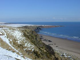 View from cliff top to Rockhall © John Adams