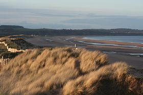 View to St. Cyrus from Montrose Golf Links © John Adams