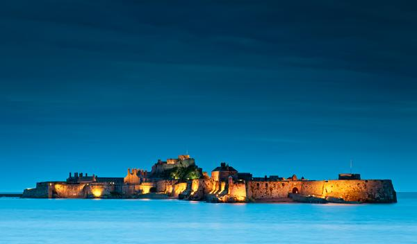 Elizabeth Castle, Jersey by night