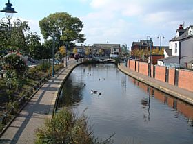 The Hudersfield Canal which runs through the centre of Stalybridge © Stewart Green