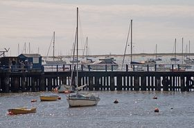 Starcross ferry pier and River Exe © Irene Swindell