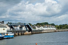 Starcross railway bridge and main street in background © Irene Swindell