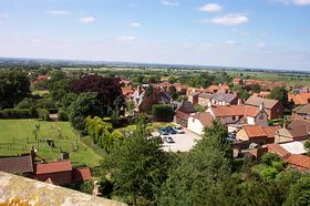 View to the North from the roof of St Guthlac's Church © David Hudson