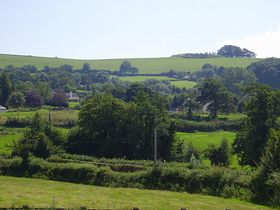 View of village from Coffintree Cross, A3072 © Judy Juggins