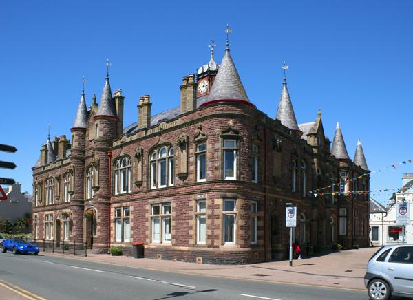 Stornoway Town Hall in Lewis, Western isles, Scotland