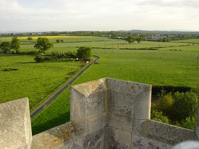 View from The Bell Tower at Strensham © Peter Read