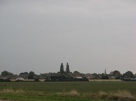 Stretham from the A10 on the way back from Ely © Thom Cousens