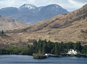 Stronachlachar Pier and Lochside House, Loch Katrine © Richard Willis