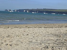 Studland Beach Looking over to Old Harry's Rocks © Keith Liddell