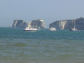 Old Harry's Rocks from Studland Beach © Keith Liddell