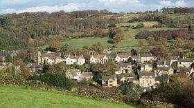 Tansley Village from the south © Chris Knightley