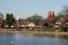 Thorpeness Lake with the Old Water Pump Mill & the House in the Clouds © Charles Dawson 2007