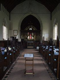 This is the inside of Troston's heritage church. © Steph Godbold