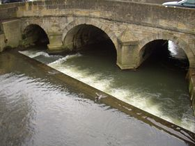 River Biss wier Trowbridge
