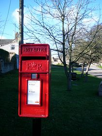 Post Box, village green © Helena Longman