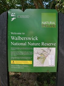Nature Reserve info. board © Peggy Cannell
